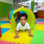 Boy playing in nursery